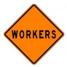 "W21-1B 36"" x 36"" Hi Intensity Prismatic Workers Sign"
