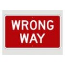 "R5-9 30"" x 18"" High Intensity Wrong Way Sign"