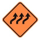 "W1-4c 36"" x 36"" High Intensity Prismatic Three Lane Reverse Curve Sign"