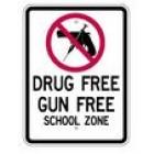 "S2-9 18"" x 24"" High Intensity Drug Free Gun Free School Zone Sign"