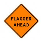 "W20-7A 36"" x 36"" High Intensity Prismatic Flagger Ahead Sign"
