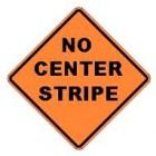 "W8-12 36"" x 36"" High Intensity Prismatic No Center Stripe Sign"