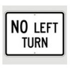 "R3-2P 24"" x 18"" EGR Grade No Left Turn Sign"