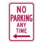 "R7-1LRA5 12"" x 18"" EGR Grade No Parking Any Time Arrow Left Sign"