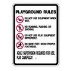 """S2-10 18"""" x 24"""" EGR Grade Playground Rules Sign"""