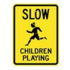 "G-8 18"" x 24"" EGR Grade Slow Children Playing Sign"