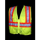 Class 2 Lime Mesh Safety Vest - V1300