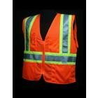 Class 2 Orange Mesh Safety Vest - V1400