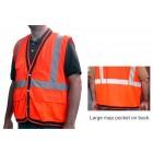 Class 2 Orange Mesh Surveyors Vest - V210
