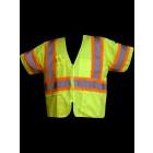 Class 3 Lime Solid Safety Vest - V355