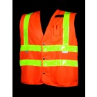Class 2 Orange Solid Safety Vest - VH402-2